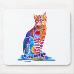 CATS DANCING COLORS MOUSE PAD