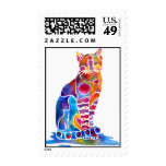 CATS DANCING COLORS STAMP