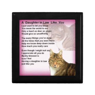 Cats  Daughter in Law Poem Jewelry Box