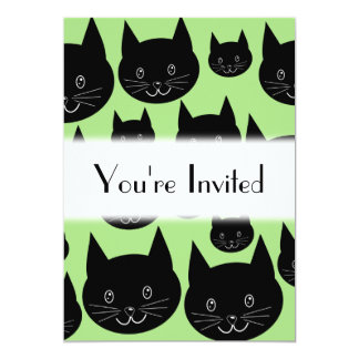 Cats Design in Black and Green. Card