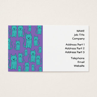 Cats Design in Funky Colors. Business Card