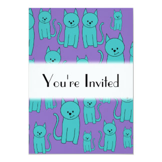 Cats Design in Funky Colors. Card