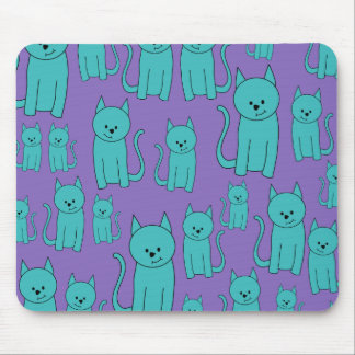 Cats Design in Funky Colors. Mouse Pad