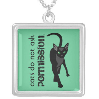 Cats do not ask permission Necklace
