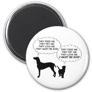Cats & Dogs 2 Inch Round Magnet