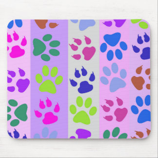 Cats & Dogs Animal Paw Prints Designer Mouse Pad