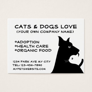 Cats & dogs business business card