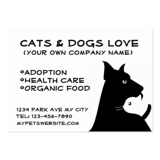 Cats & dogs business large business card