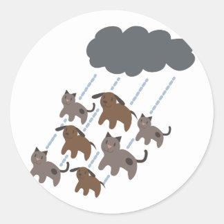 Cats & Dogs Classic Round Sticker