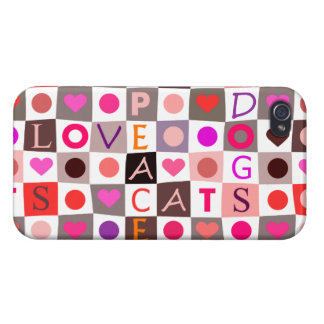 Cats & Dogs Love iPhone 4 Covers