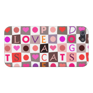 Cats Dogs Love Peace Case For iPhone SE/5/5s