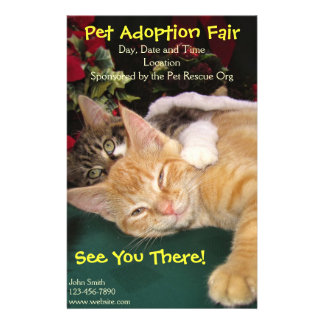 Pet adoption flyers programs zazzle cats amp dogs rescue event pet animal adoption flyer pronofoot35fo Images