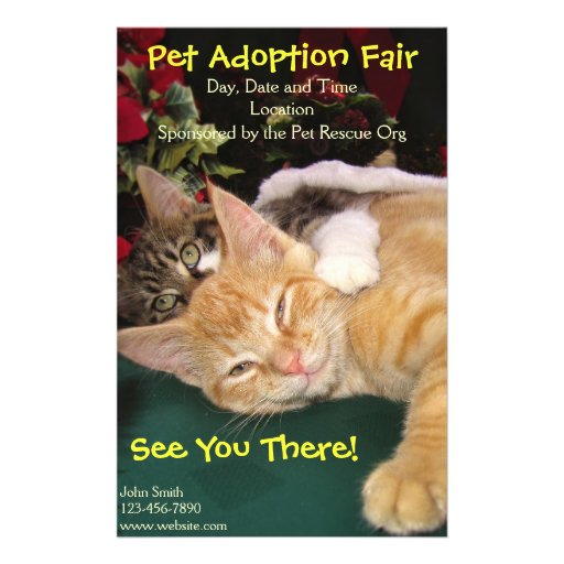 Cats & Dogs Rescue Event, Pet Animal Adoption Full Color Flyer