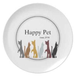 Cats & Dogs Veterinarian Melamine Plate