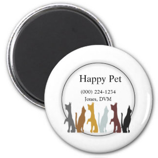 Cats & Dogs Veterinarian Pet Service 2 Inch Round Magnet