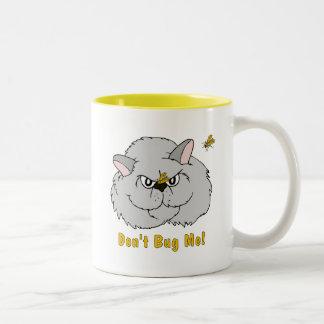 Cats: Don't Bug Me! Two-Tone Coffee Mug