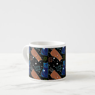 Cats don't sleep at night! espresso cup