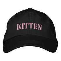 CATS EMBROIDERED BASEBALL HAT