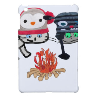 Cats Enjoy The Warmth From The Fire iPad Mini Case