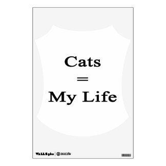 Cats Equal My Life Wall Decor