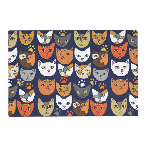 Cats Everywhere Cat Person Placemat