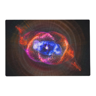 Cats Eye and Helix Nebulae space pictures Placemat
