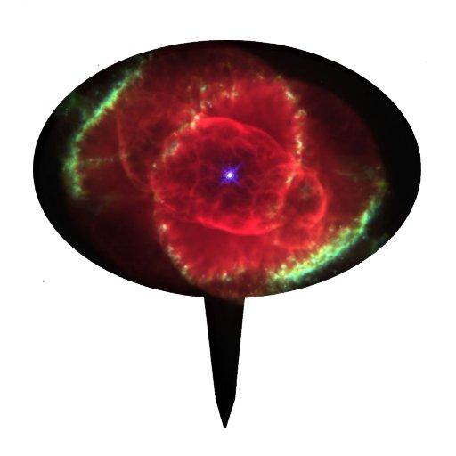 Cat's Eye Nebula Cake Topper