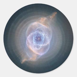 cats eye nebula classic round sticker