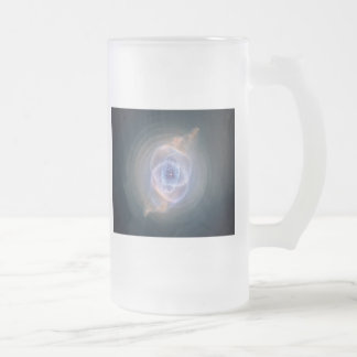 cats eye nebula frosted glass beer mug