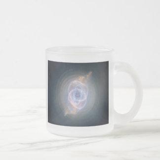 cats eye nebula frosted glass coffee mug