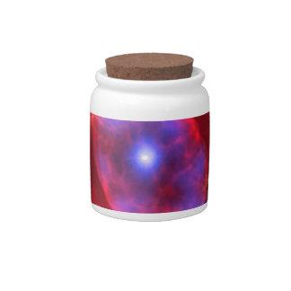 Cat's Eye Nebula glowing Candy Jar