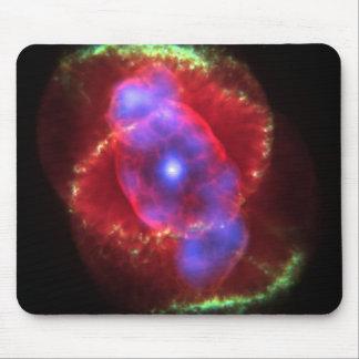 Cat's Eye Nebula glowing Mouse Pad
