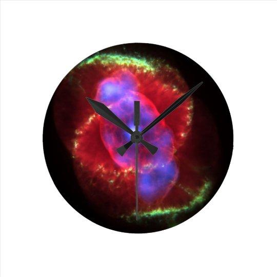 Cat's Eye Nebula glowing Round Clock