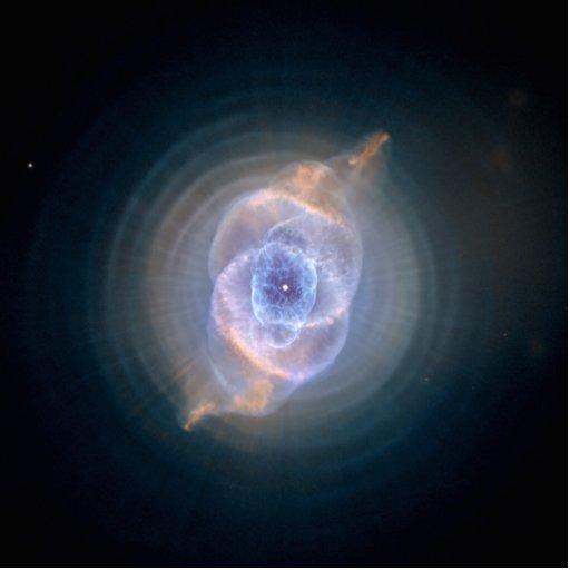 Cat's Eye Nebula Hubble NASA Standing Photo Sculpture