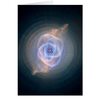 Cat's Eye Nebula Hubble Space Card