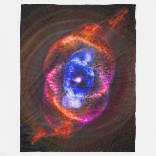Cats eye nebula outer space picture fleece blanket zazzle for Outer space fleece