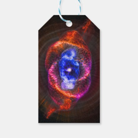 Cats Eye Nebula outer space picture Gift Tags