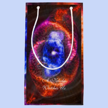 Cats Eye Nebula outer space picture Small Gift Bag