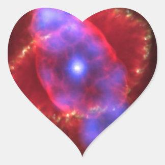 Cat's Eye Nebula Heart Stickers