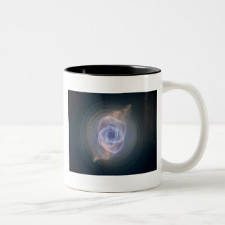 cats eye nebula Two-Tone coffee mug