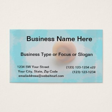 Beach Themed cats eye shell blue streaks beach animal business card