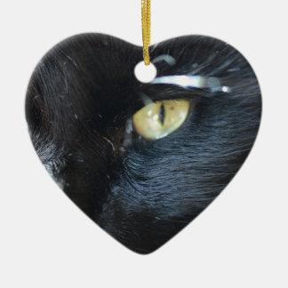 Cat's Eyeing You Ceramic Ornament
