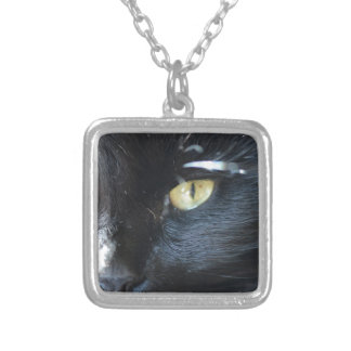 Cat's Eyeing You Silver Plated Necklace