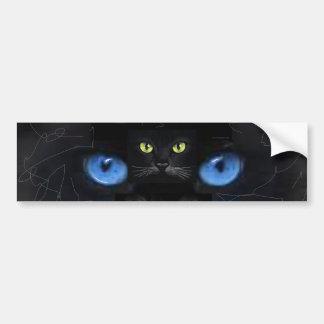 Cat's eyes bumper sticker