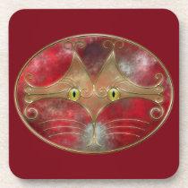Cat's-Eyes Cork Coaster