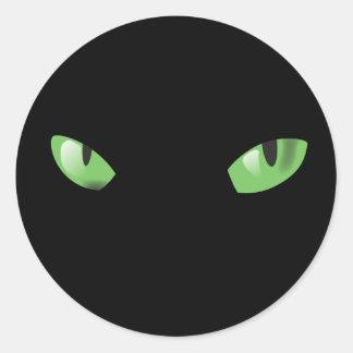 Cats Eyes in the Dark Classic Round Sticker
