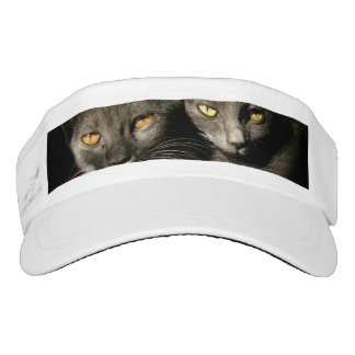 Cats Eyes Photos Custom Woven Visor, White Visor