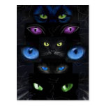 Cat's eyes post cards