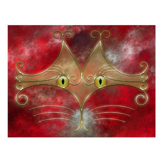 Cat's-Eyes Postcard