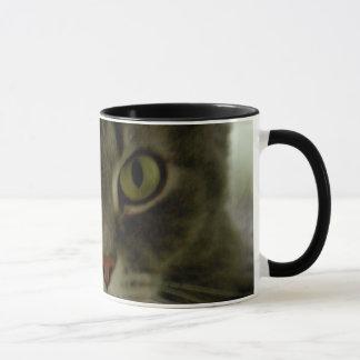 Cat's Eyes Watching Mug
